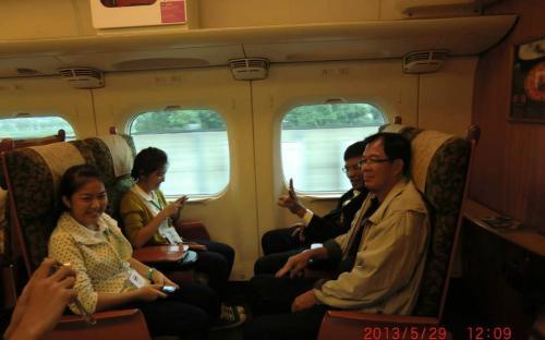 ได้มีโอกาสนั่งรถไฟชินคันเซน สายซากุระ 304